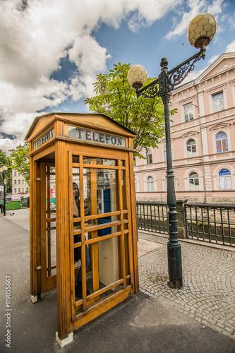Fotografie, Obraz  historische Telefonzelle