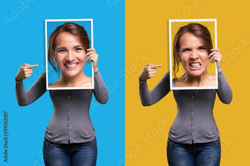 Fotografiet  Mood swings in a girl
