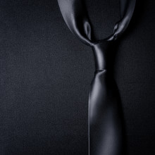 Black Tie On A Black Background