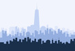 New York morning Skyline - Vector