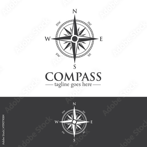 Photo Compass Logo Design Creative Concept Template v.1