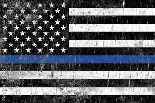 Fototapeta Law Enforcement Police Support Flag