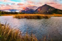 Vermilion Lakes Sunset Near Banff