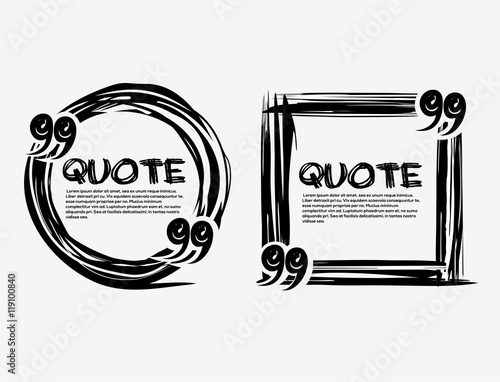 Set drawn quotes and frame Wallpaper Mural