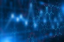Blue Medical Science Futuristic Technology Abstract Background