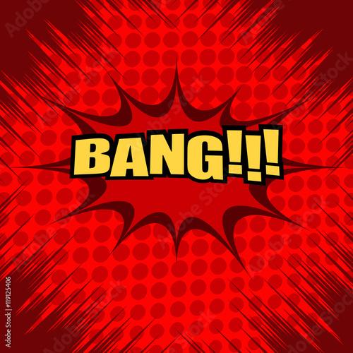 Photo  Bang comic text