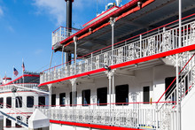 Red Trim On White Riverboat