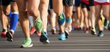 Marathon Running Race, People ...