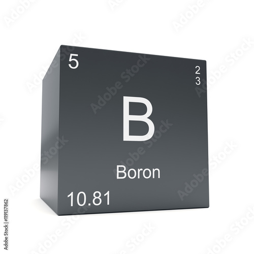 Boron Chemical Element Symbol From The Periodic Table Displayed On