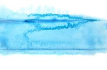 Watercolor Blue Stripe