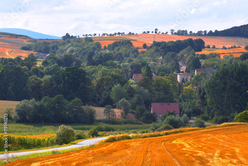 Village in South Poland in Sudety Mountains - 119140213