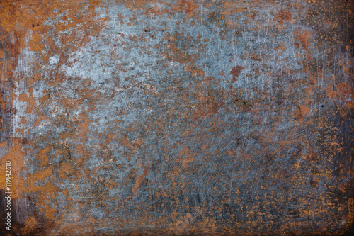 Foto Steel walkway mats sprayed red rust.Iron surface rust