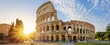 canvas print picture - Colosseum in Rome and morning sun, Italy