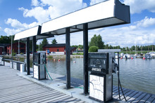 LOVIISA, FINLAND 29 JULY 2015 - Petrol Station For Boats.