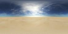 Sandy Desert. Environment Map. HDRI Map. Equirectangular Projection. Spherical Panorama. Landscape