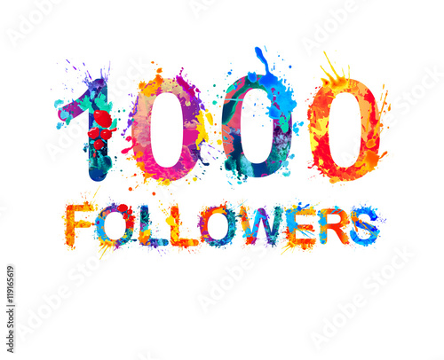 Fotografía  1000 (one thousand) followers