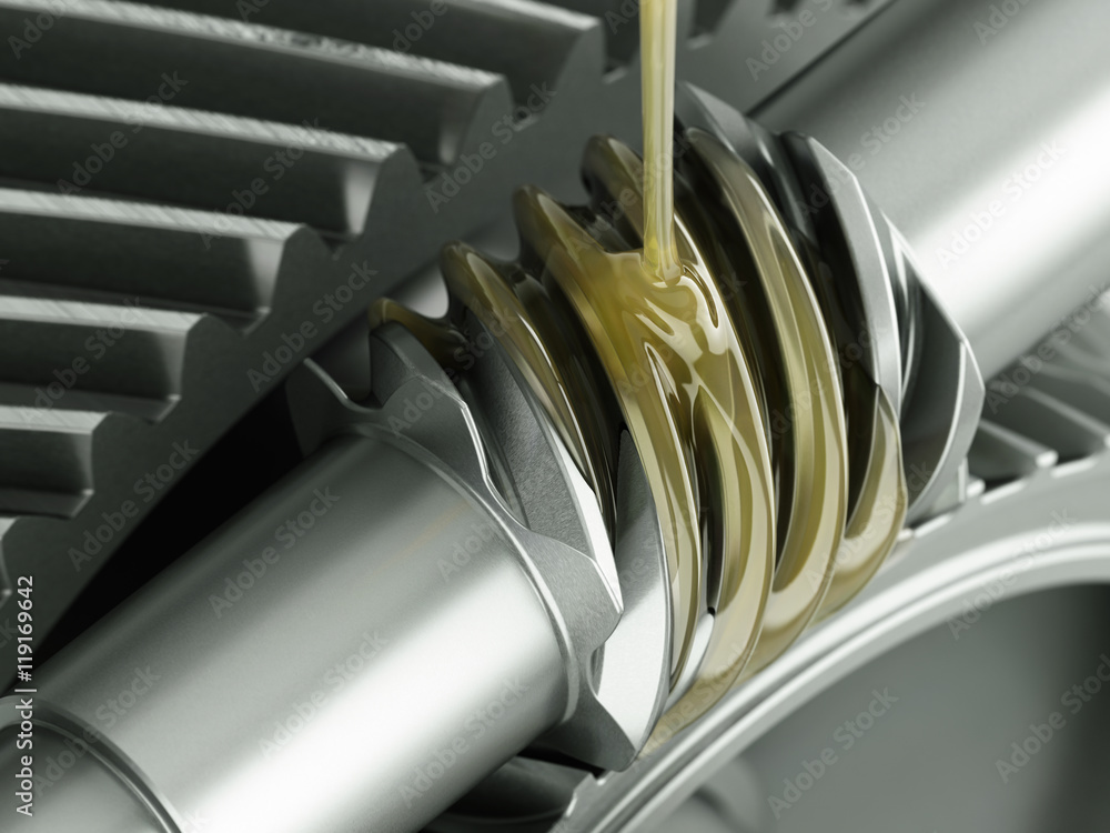 Fototapety, obrazy: Oiling Gears Close-up