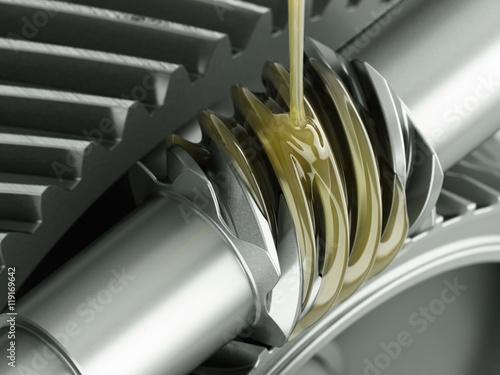 Fotografía  Oiling Gears Close-up