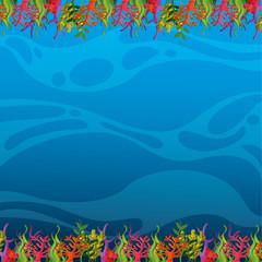 Fototapeta na wymiar seabed landscape isolated icon
