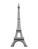 Fototapeta Eiffel Tower - tower eiffel isolated icon
