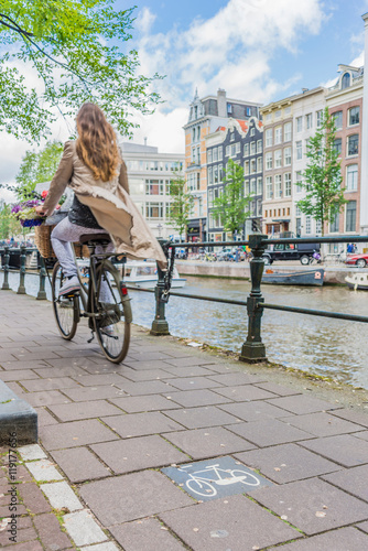 Bicycle in Amsterdam, Netherlands. Canvas Print