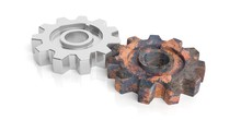Gears On White Background. 3d ...