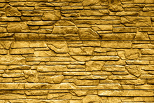 Gold Stone Brick Wall Detailed Contrast Texture Background