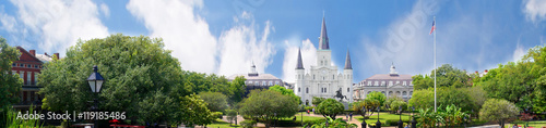 Foto New Orleans a Louisiana city on the Mississippi River, on the Gulf of Mexico