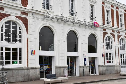 Foto op Aluminium Treinstation Evreux, France - august 11 2016 : train station