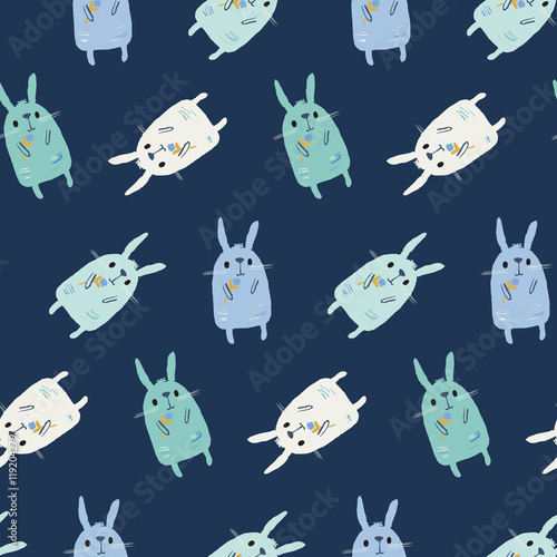 Cotton fabric Bunnies