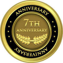 Seventh Anniversary Gold Medal