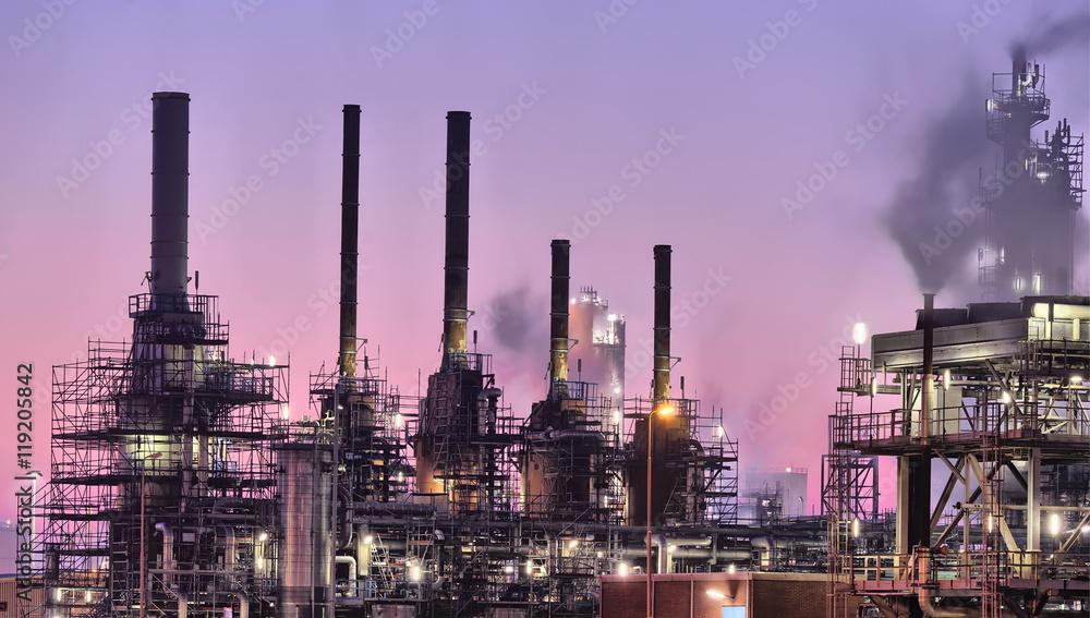 Fototapety, obrazy: Industrial chimneys, Port of Rotterdam