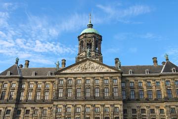 Fototapeta na wymiar Royal Palace on Dam Square in Amsterdam, the Netherlands