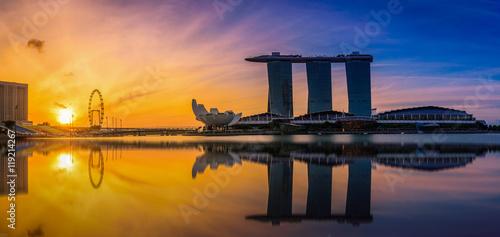 Photo  Panorama Singapore Skyline