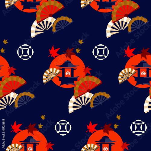 chinskie-domy-w-jesiennej-kompozycji-na-granatowym-tle