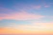 Leinwandbild Motiv Background of sunrise sky with gentle colors of soft clouds