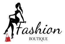 Fashion Boutique Logo With Bla...
