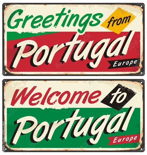 portugal travel retro sign template buy this stock vector and