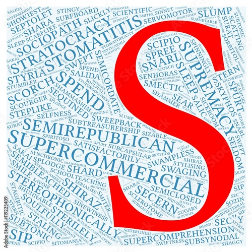 Letter S With 100 Words Word Cloud Starting With Letter S Buy