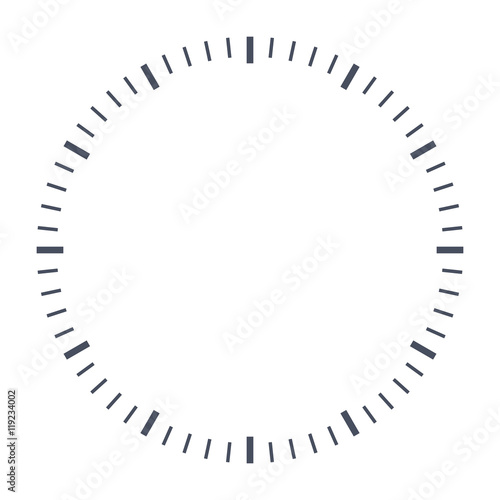 Fotografía  Blank clock face, just set your own time.