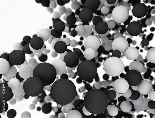 Abstract Spheres Particles 3D Background