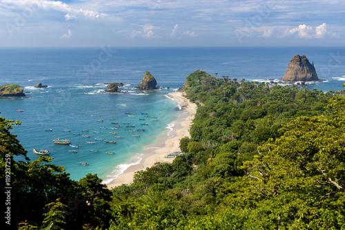 Photo  Tanjung Papuma Beach in Jember, East Java, Indonesia