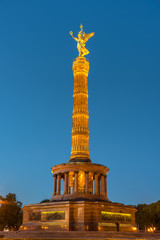 Panel Szklany Berlin The Victory Column in Berlin at night