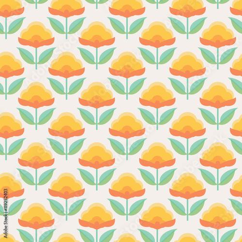 Naklejki witrażowe   kwiatowy-wzor