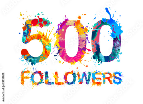 Fotografia  500 (two thousand) followers.
