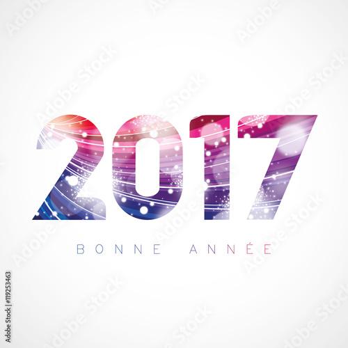 Bonne Année 2017 - Courbes rose-violet Fototapete