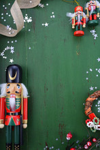 Christmas Background With Orna...