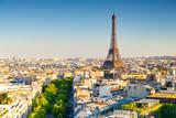 Fototapeta Paryż - cityscape of paris by the sunset