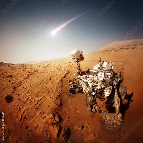 Mars Rover explores the red planet Poster
