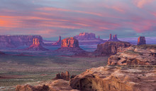 Hunts Mesa Sunset - Hunts Mesa Is A Rock Formation Located In Monument Valley, South Of The Border Between Utah And Arizona And West Of The Border Between Arizona's Navajo County And Apache County.